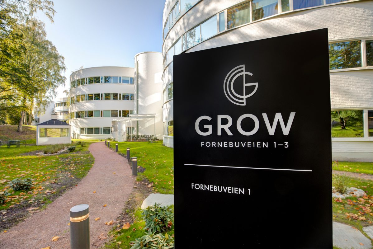 Bakhage Grow skiltet